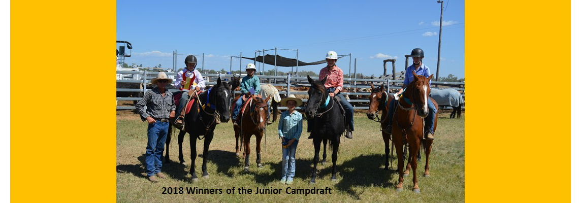 Junior Campdraft Winners 2018