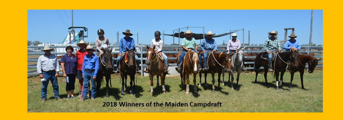 Maiden Campdraft Winners 2018