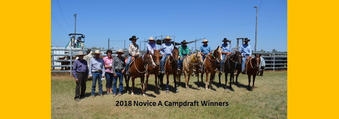 Novice A Campdraft Winners 2018