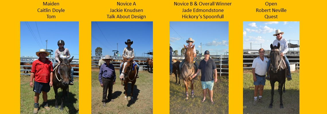 Winners of Maiden, Novice & Open Campdraft 2018