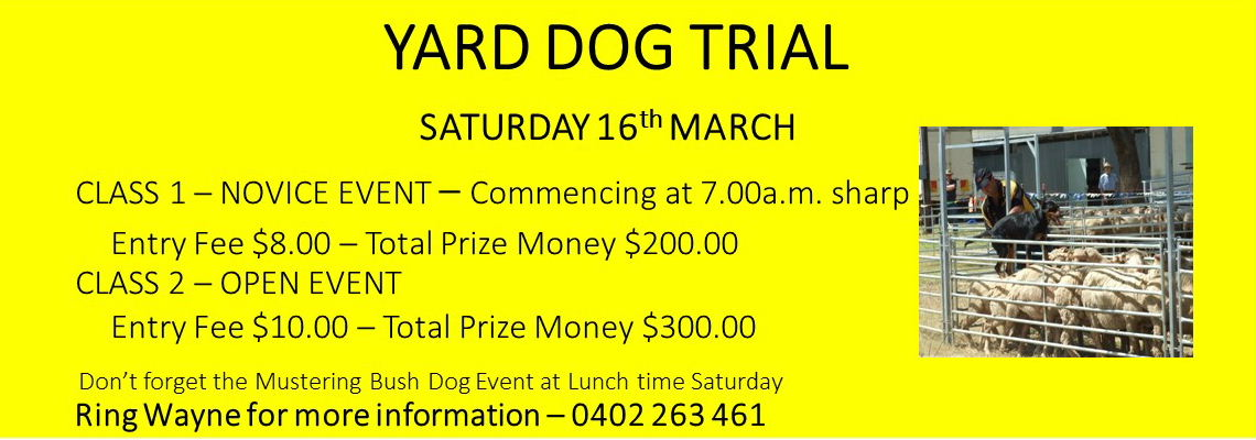 Yard Dog Trial 2019